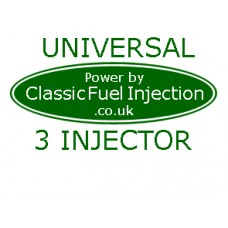 Classic Fuel Injection - Universal Complete Kit with 3 Injectors - Upto 185 BHP