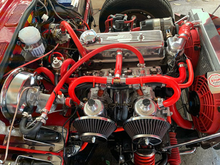 triumph spitfire converted with classic fuel injection